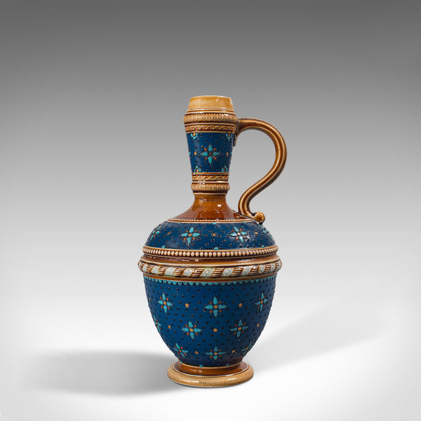 Antique Decorative Ewer, German, Ceramic, Serving Flask, Liqueur Bottle, C.1900