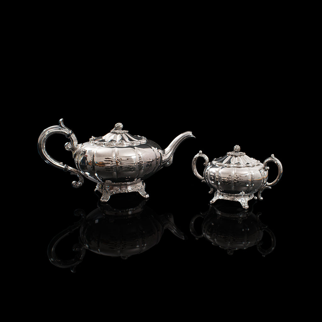 Vintage Tea Service, English, Silver Plated, Teapot, Dish, Viners of Sheffield