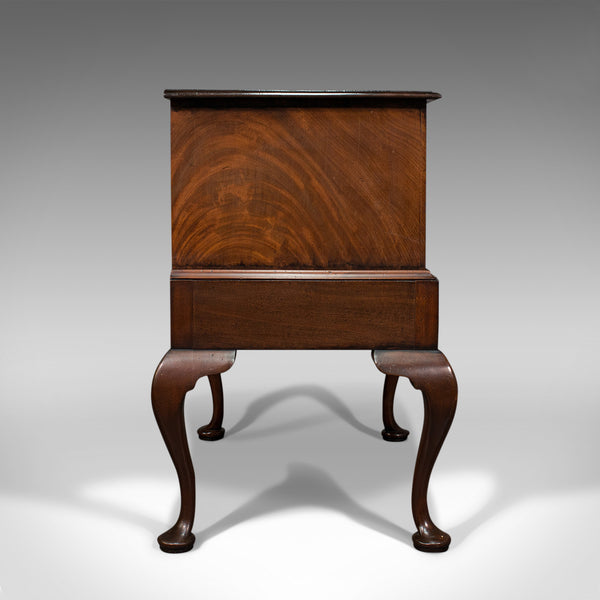 Antique Dwarf Chest on Stand, English, Flame Mahogany, Victorian, Circa 1900
