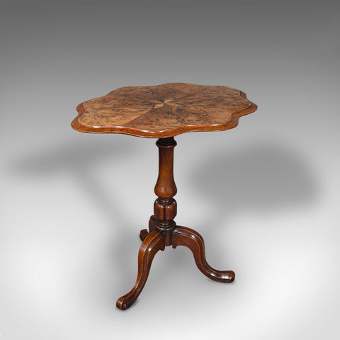 Antique Wine Table, Mahogany, Burr Walnut, Inlay, Side, Marquetry, Regency, 1820