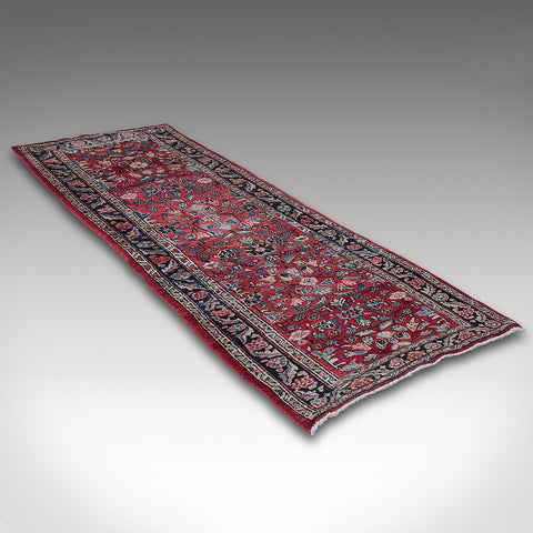 Long, Vintage Hamadan Runner, Persian, Hallway, Rug, Carpet, Mid 20th, C.1950