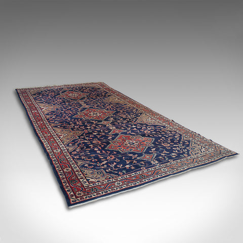 Large Vintage Hamadan Hall Carpet, Persian, Lounge, Hallway, Rug, Circa 1950