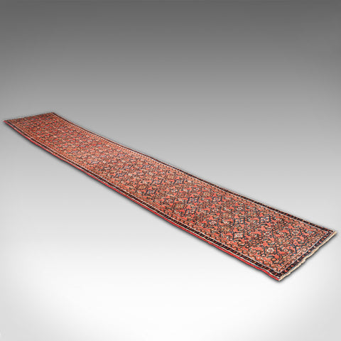 Long 17 Foot Vintage Malayer Runner, Persian, Hall, Rug, Carpet, 20th Century