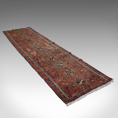 "Long 12' 9"" Vintage Karajar Runner, Persian, Entrance Hall, Carpet, Circa 1930"