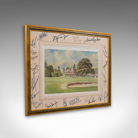 Rare, Signed Sports Memorabilia, Sunningdale Golf Club, Celebrity Signatures