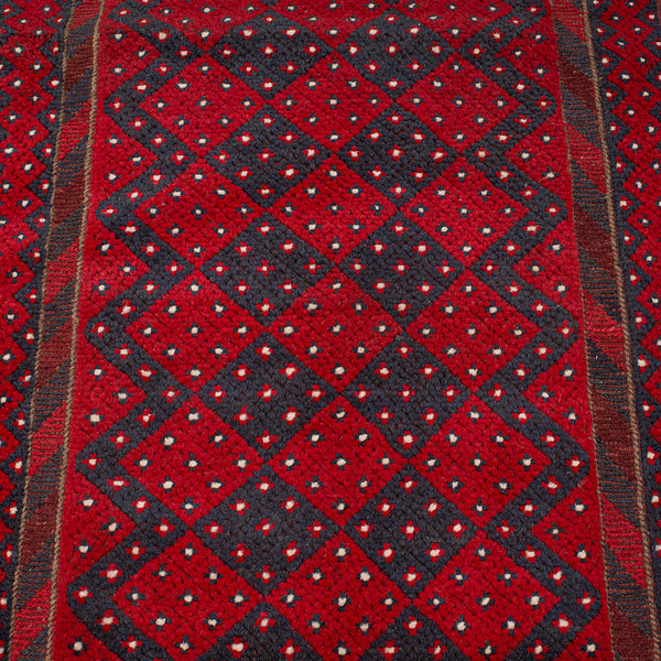 Long Antique Meshwari Runner, Persian, Wool, Kilim, Hallway, Carpet, Circa 1900