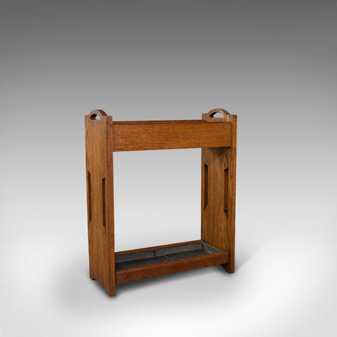Antique Hallway Rack, English, Liberty-esque, Stick Stand, Arts & Crafts, C.1920