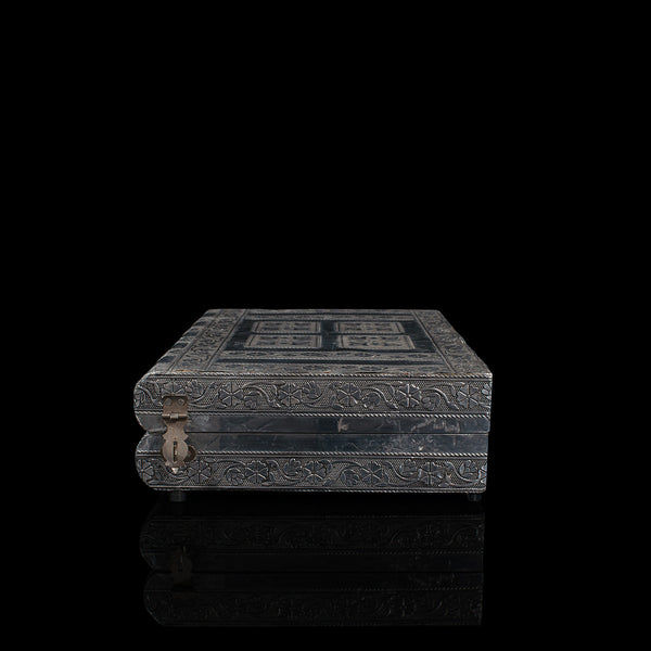 Vintage Decorative Jewellery Box, Indian Silver, Vanity Case, Late 20th Century