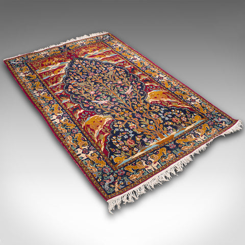 Vintage Tree Of Life Rug, Persian, Decorative, Hall, Lounge, Carpet, Circa 1960