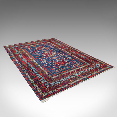 Vintage Shirvan Rug, Caucasian, Lounge, Hall Carpet, Mid 20th Century, C.1950