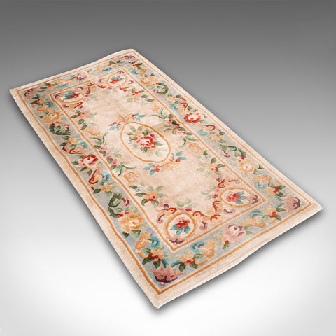 Vintage Decorative Rug, Oriental, Hallway, Carpet, Late 20th Century, Circa 1970