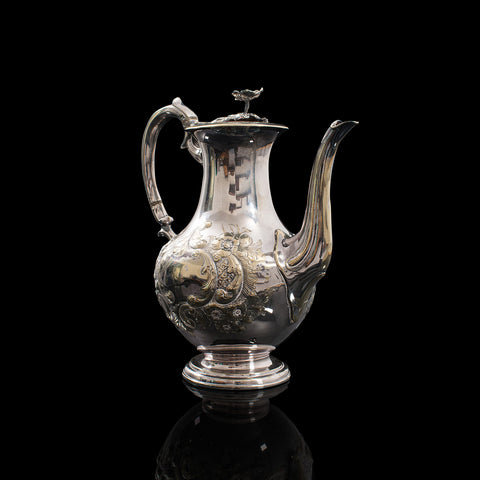 Antique Decorative Tea Urn, English, Silver Plate, Teapot, Edwardian, Circa 1910
