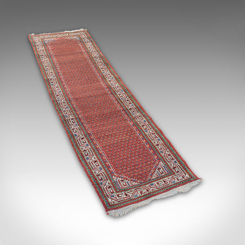 Long Vintage Hallway Runner, Persian, Woollen, Carpet, Mid 20th, Circa 1960