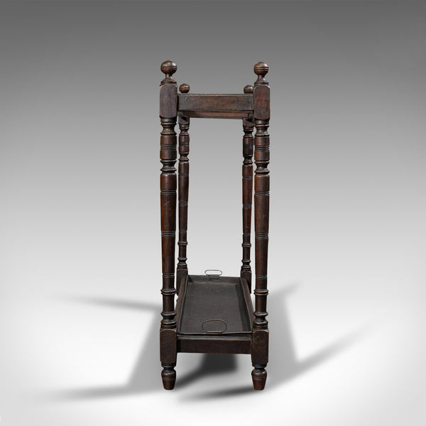 Antique Hallway Stand, English, Mahogany, Cane, Umbrella Rack, Edwardian, C.1910
