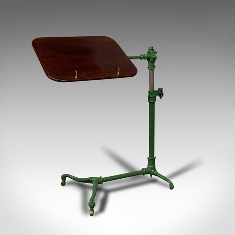 Antique Adjustable Reading Stand, English, Mahogany, Music Lectern, Edwardian