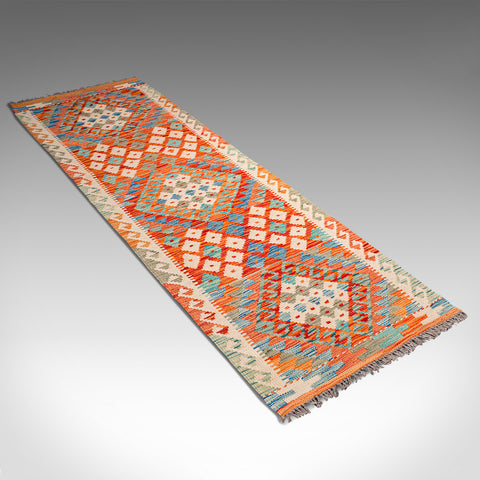 Vintage Choli Kilim Hallway Runner, Persian, Decorative, Hall Carpet, Circa 1970