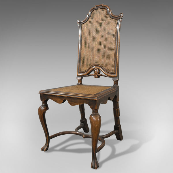 Set of Six, Antique Dining Chairs, Liberty of London, Walnut, Cane, Circa 1880