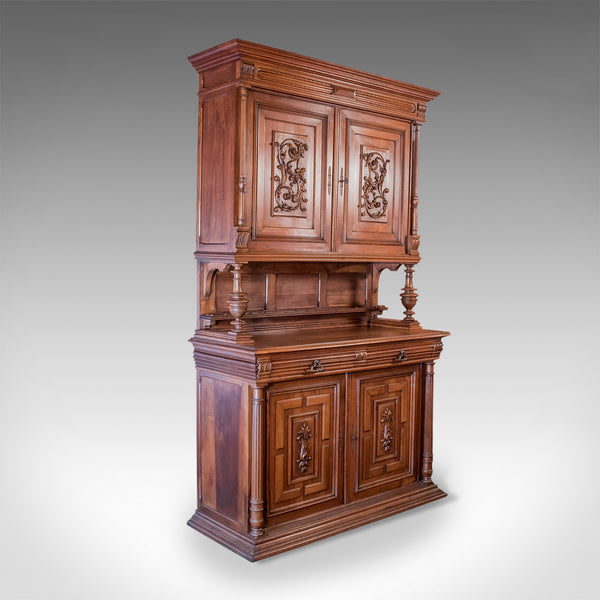 French Antique Show Cabinet, Victorian Cupboard Circa 1890 - London Fine Antiques
