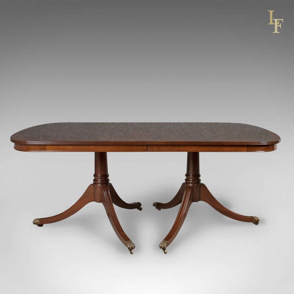 8 10 seat dining table in regency taste english mahogany for 10 seating dining table