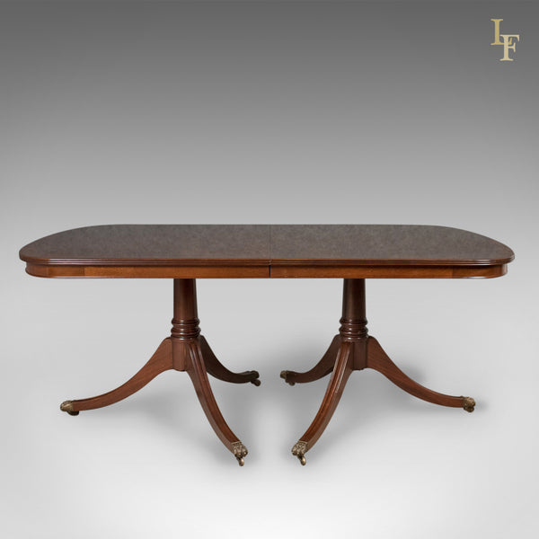 8-10 Seat Dining Table in Regency Taste, English, Mahogany, Harrods - London Fine Antiques