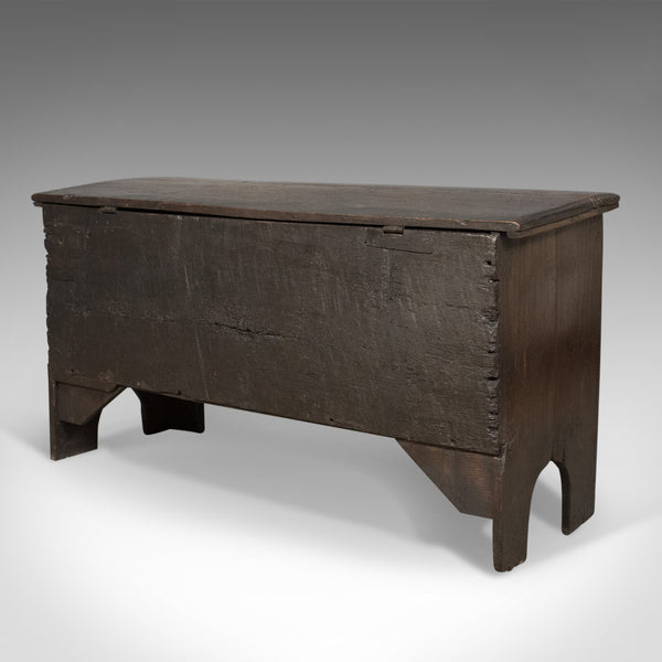 Antique Coffer, Early 18th Century Trunk, English Oak Sword Chest, circa 1700 - London Fine Antiques