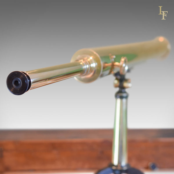 "Antique Telescope, 2.75"" Refracting Achromatic Library Scope, Early C19th - London Fine Antiques"
