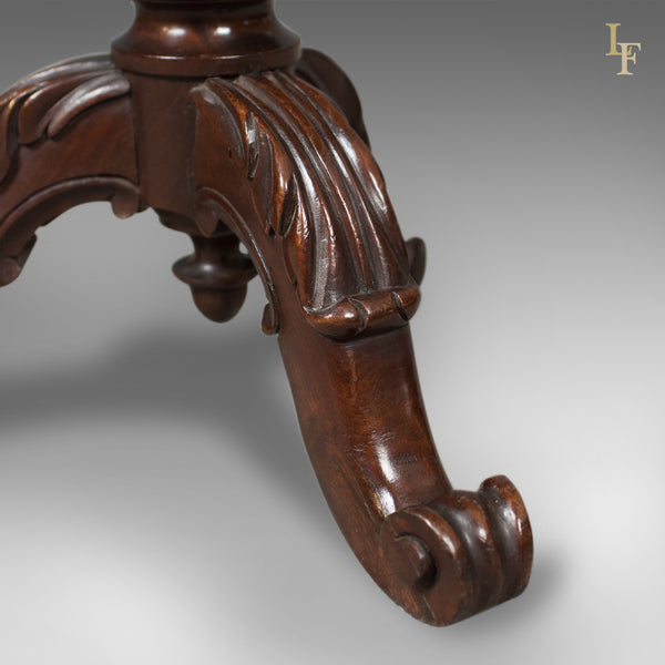 Adjustable Antique Piano Stool, Mahogany, Victorian, English c.1880 - London Fine Antiques