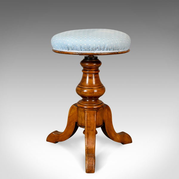 Adjustable Antique Piano Stool, Walnut, Victorian, English, Music c.1880 - London Fine Antiques