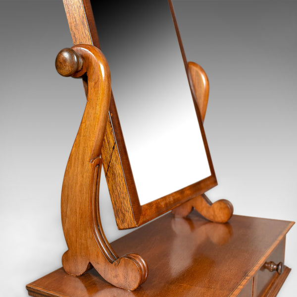 Adjustable Antique Toilet Mirror, English, Edwardian, Walnut Swing Frame c.1910 - London Fine Antiques