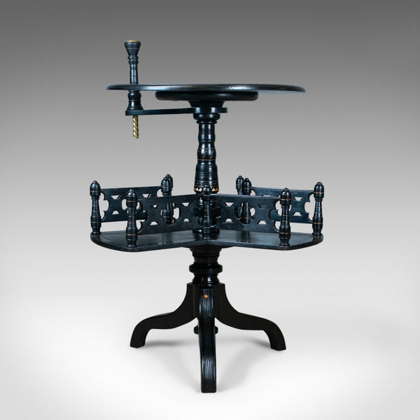 Aesthetic Period Reading Table, English, Victorian, Ebonised, Side, Circa 1880 - London Fine Antiques