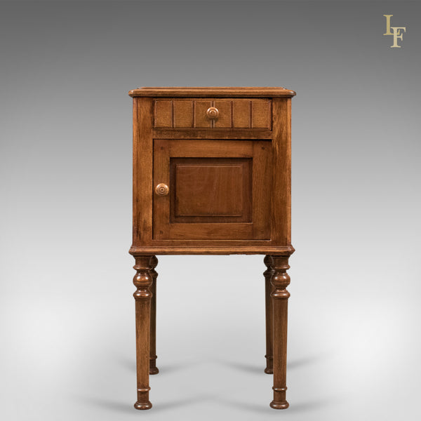 Antique Bedside Cabinet, Victorian Pot Cupboard, c.1900 - London Fine Antiques