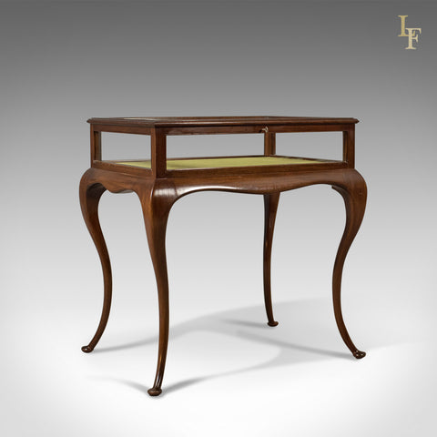 Antique Bijouterie Table, George V Display Case, English c.1915