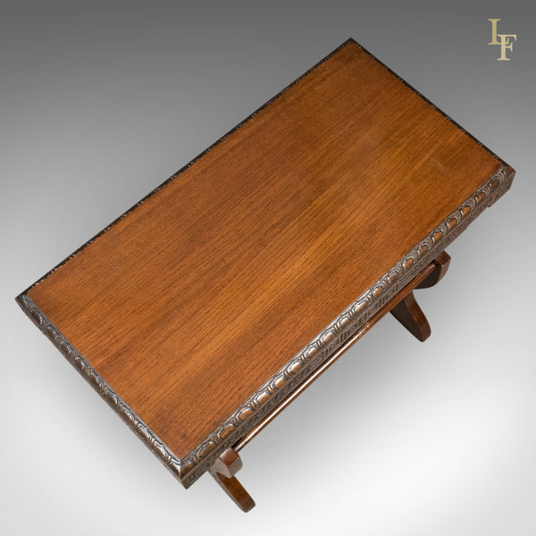 Antique Book Trough Side Table, Oriental Walnut c.1910 - London Fine Antiques