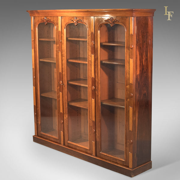 Antique Bookcase, Regency Rosewood Glazed Cabinet, c.1830 - London Fine Antiques