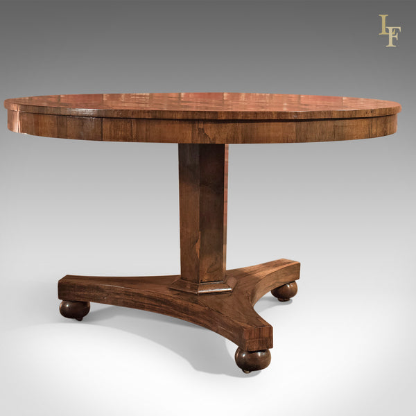 Antique Breakfast Table, Regency, Rosewood c.1820 - London Fine Antiques