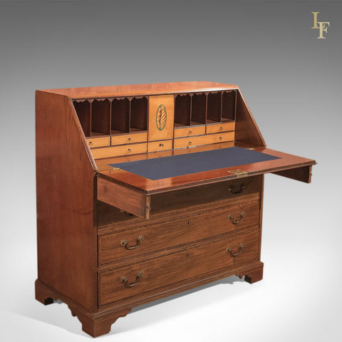 Antique Bureau, Georgian Mahogany c.1780 - London Fine Antiques