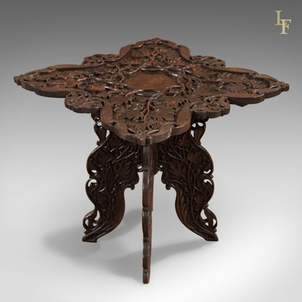 Antique Campaign Side Table, Anglo-Indian c.1900 - London Fine Antiques