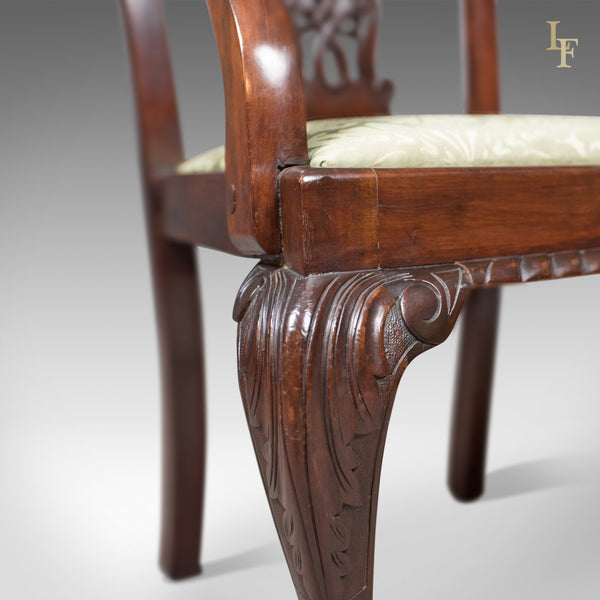 Antique Carver Chair, Victorian Chippendale Revival, c.1890 - London Fine Antiques
