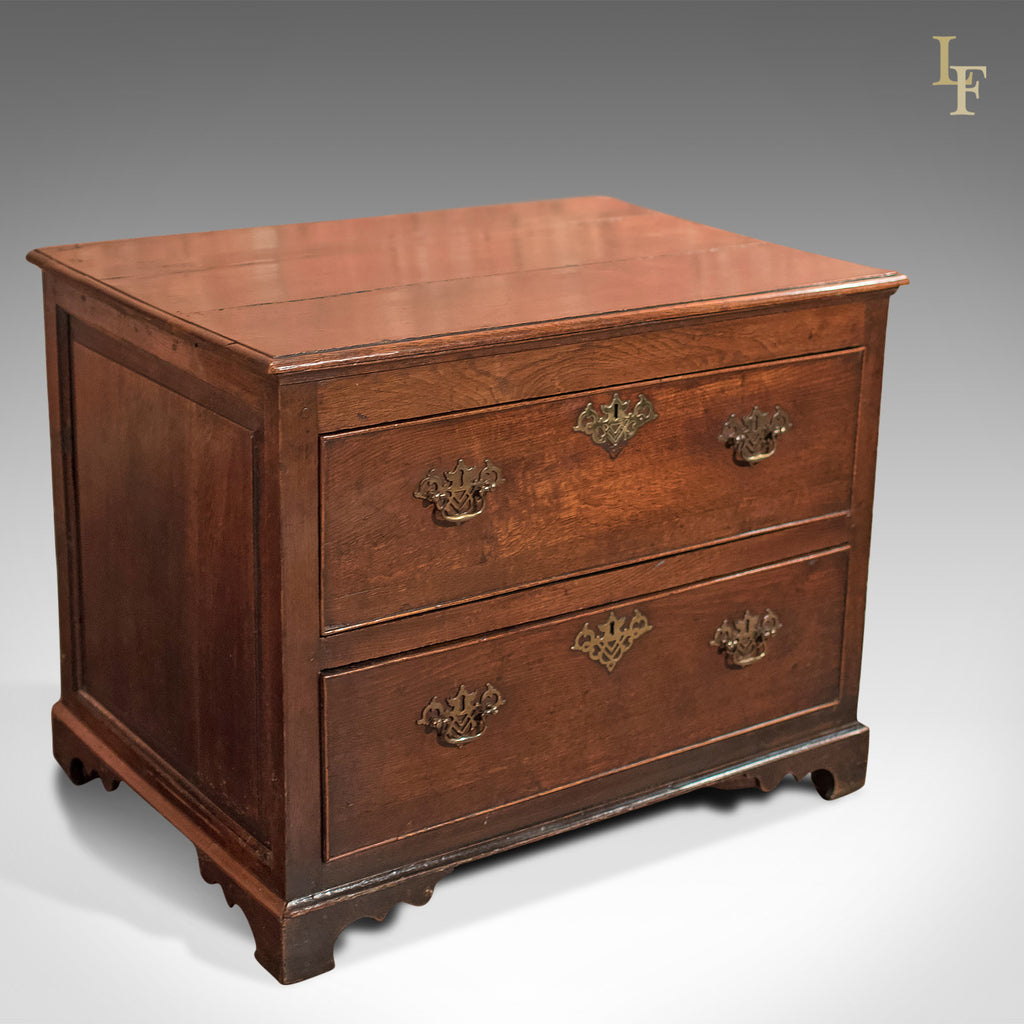 Antique Chest of Drawers, Georgian Squat Tallboy c.1750 - London Fine Antiques