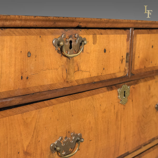 Antique Chest of Drawers, Georgian Walnut English c.1720 - London Fine Antiques
