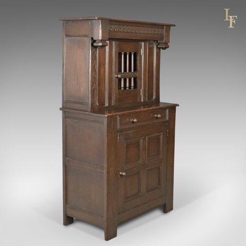 Antique Court Cupboard, Edwardian Elizabethan Taste c.1910 - London Fine Antiques