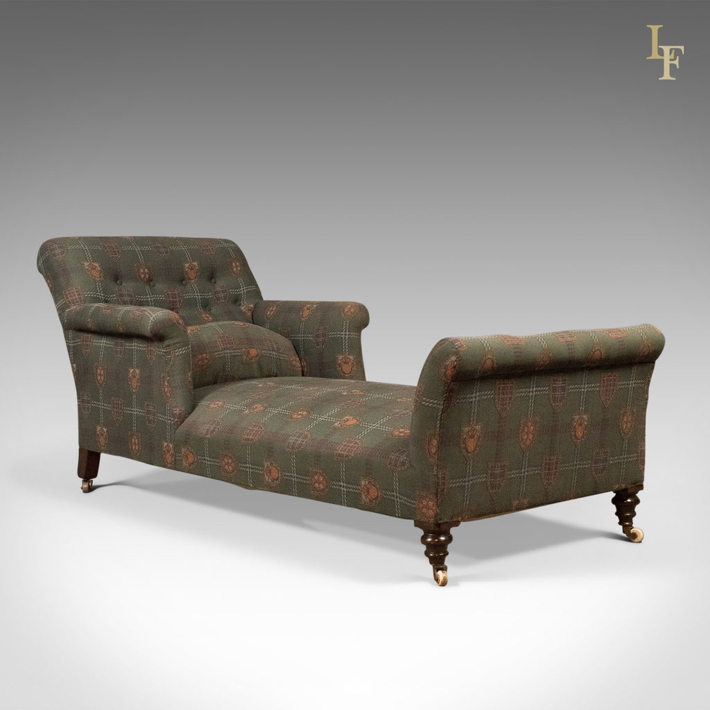 Antique Daybed, Victorian Button Back Armchair c.1880 - London Fine Antiques