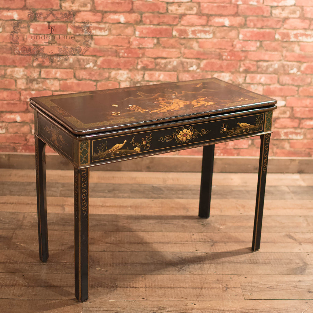 antique fold over card table chinoiserie c1890 london fine antiques