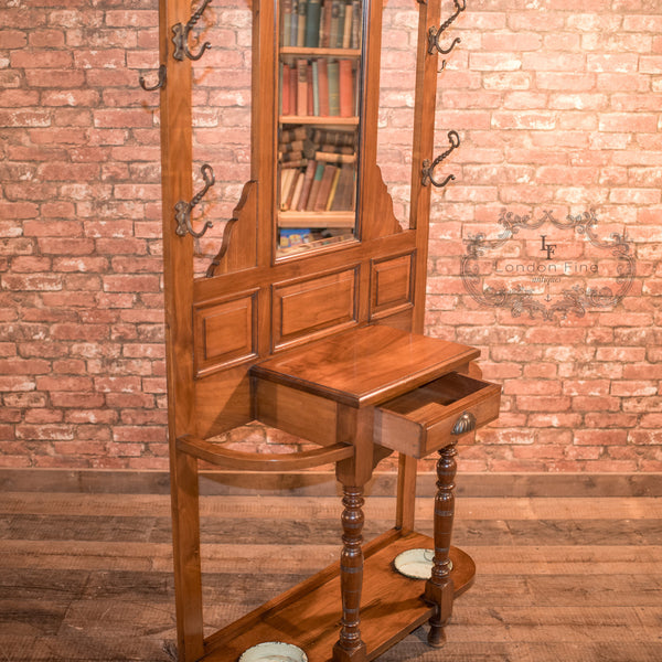 Antique Hall Stand, Edwardian Walnut c.1910 - London Fine Antiques