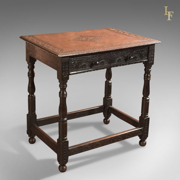 Antique Hall Table, Georgian Carved Oak, circa 1800 - London Fine Antiques