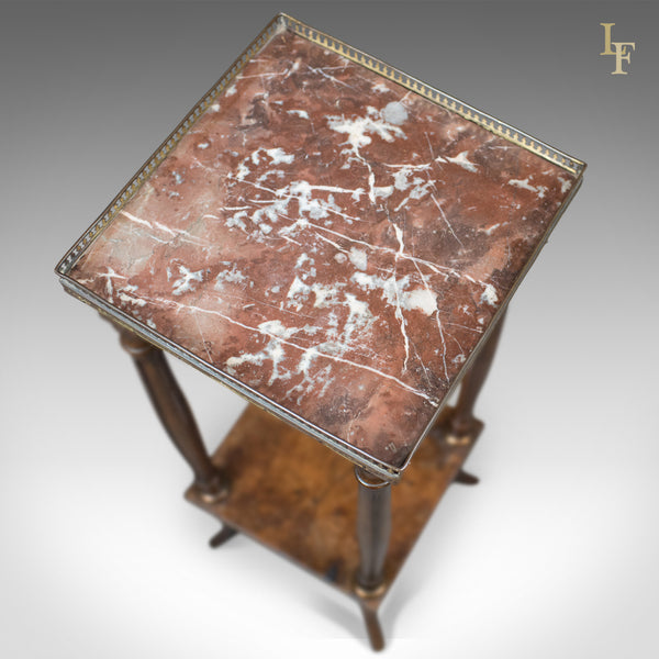 Antique Jardiniere, French Galleried Marble Stand, c.1850 - London Fine Antiques