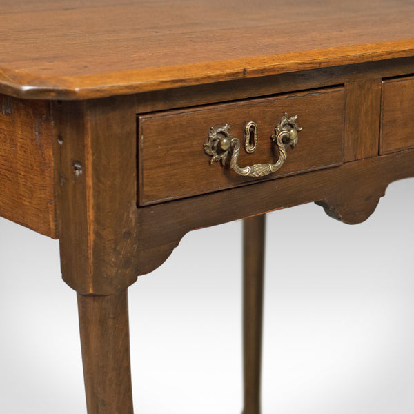 Antique Lowboy, Victorian Hall Table, English Oak c.1850 - London Fine Antiques