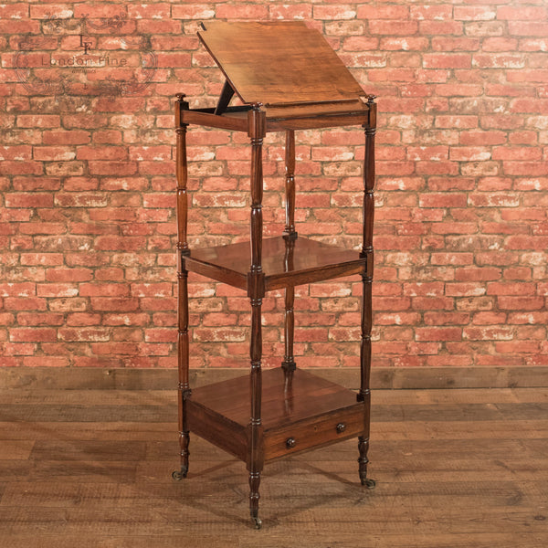 Antique Music Stand, Regency Rosewood Whatnot c.1820 - London Fine Antiques