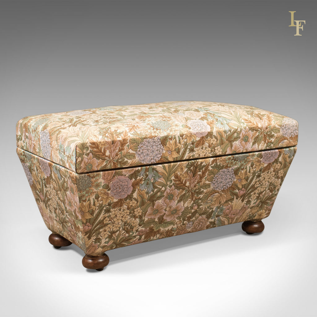 Antique Ottoman, Victorian Upholstered Chest c.1870 - London Fine Antiques