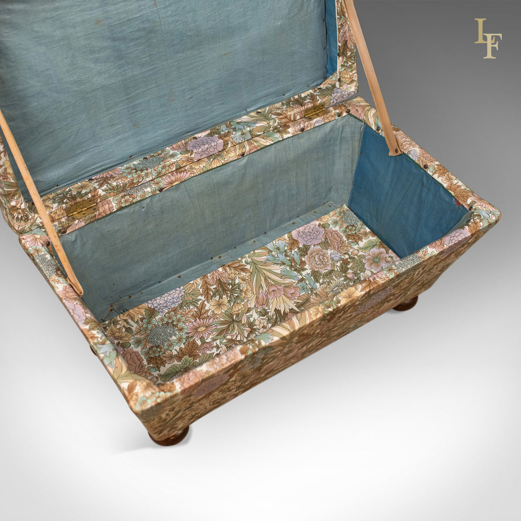 Antique Ottoman Victorian Upholstered Chest C 1870
